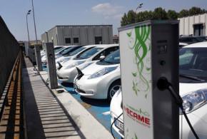 Il parco di auto elettriche di Scame